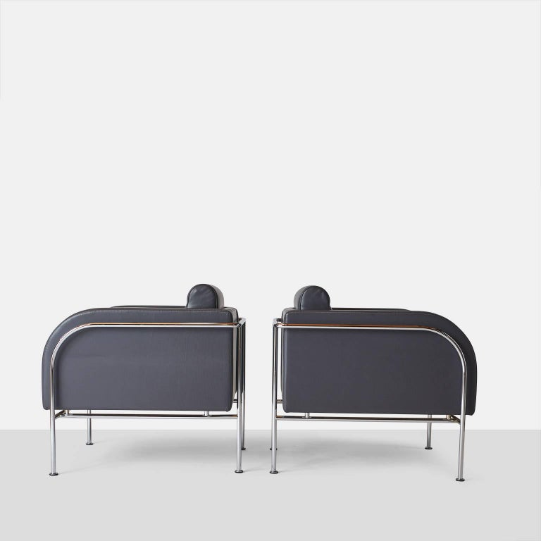 Pair of lounge chairs by Friis & Moltke.