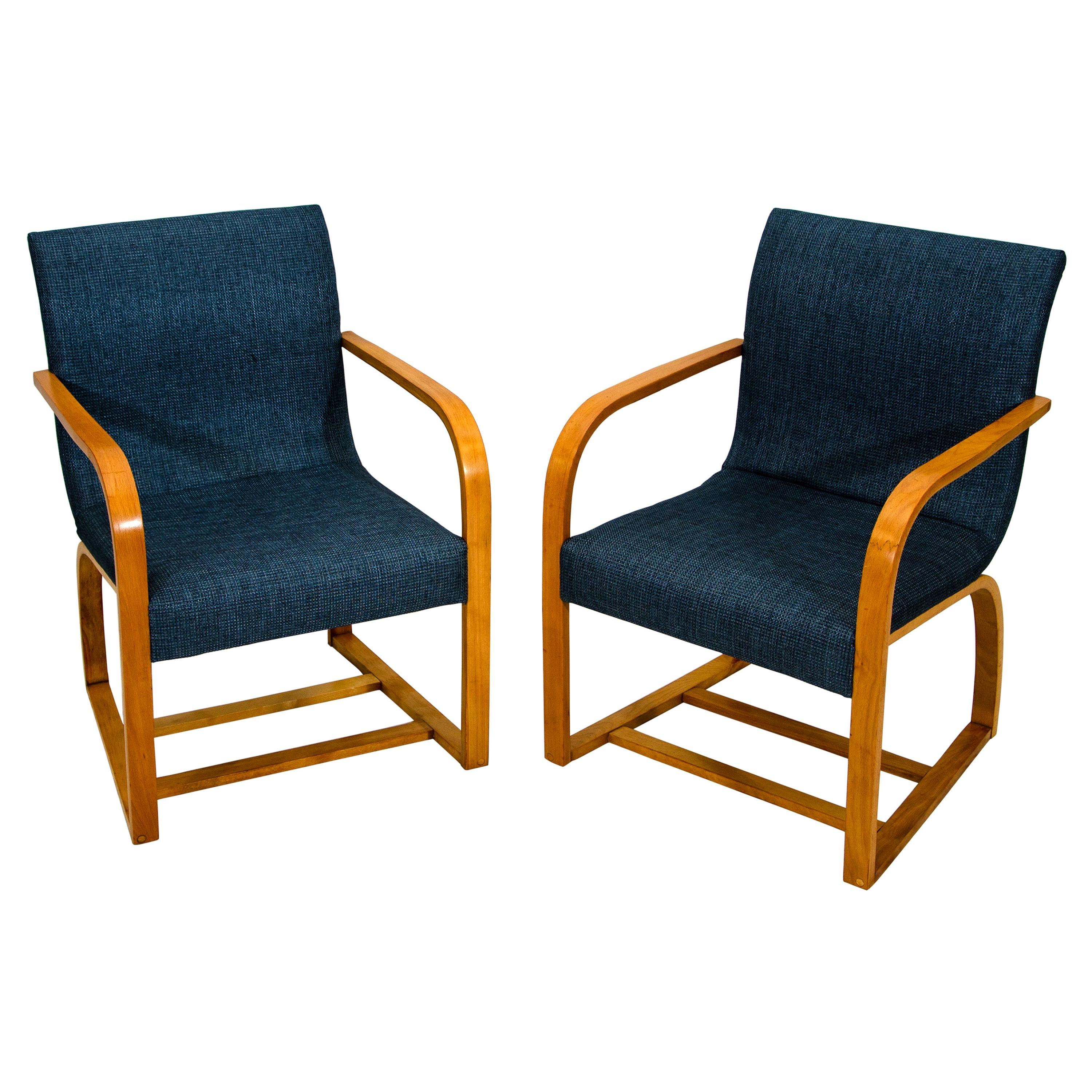 Pair of Lounge Chairs by Gilbert Rohde for Heywood Wakefield, C2794 A