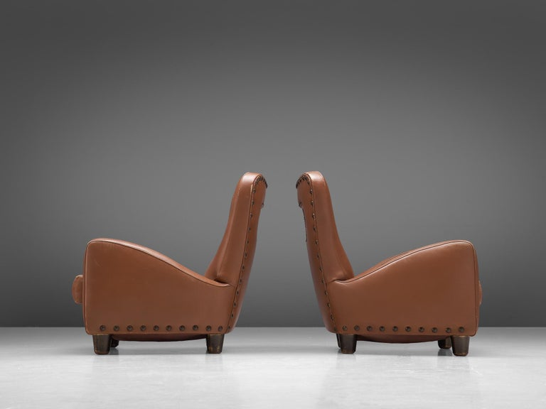 Pair of Lounge Chairs by Giovanni Gariboldi In Good Condition For Sale In Waalwijk, NL