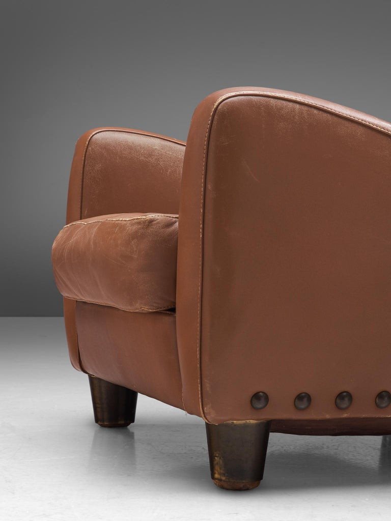 Mid-20th Century Pair of Lounge Chairs by Giovanni Gariboldi For Sale