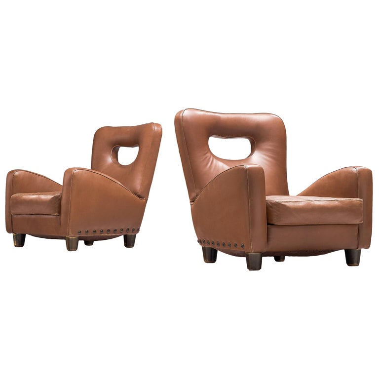 Pair of Lounge Chairs by Giovanni Gariboldi For Sale