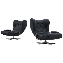 Pair of Lounge Chairs by Guido Bonzani