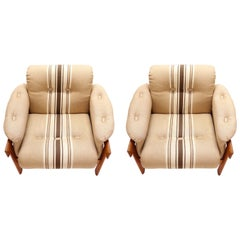 Pair of Lounge Chairs by H.W. Klein for Bramin