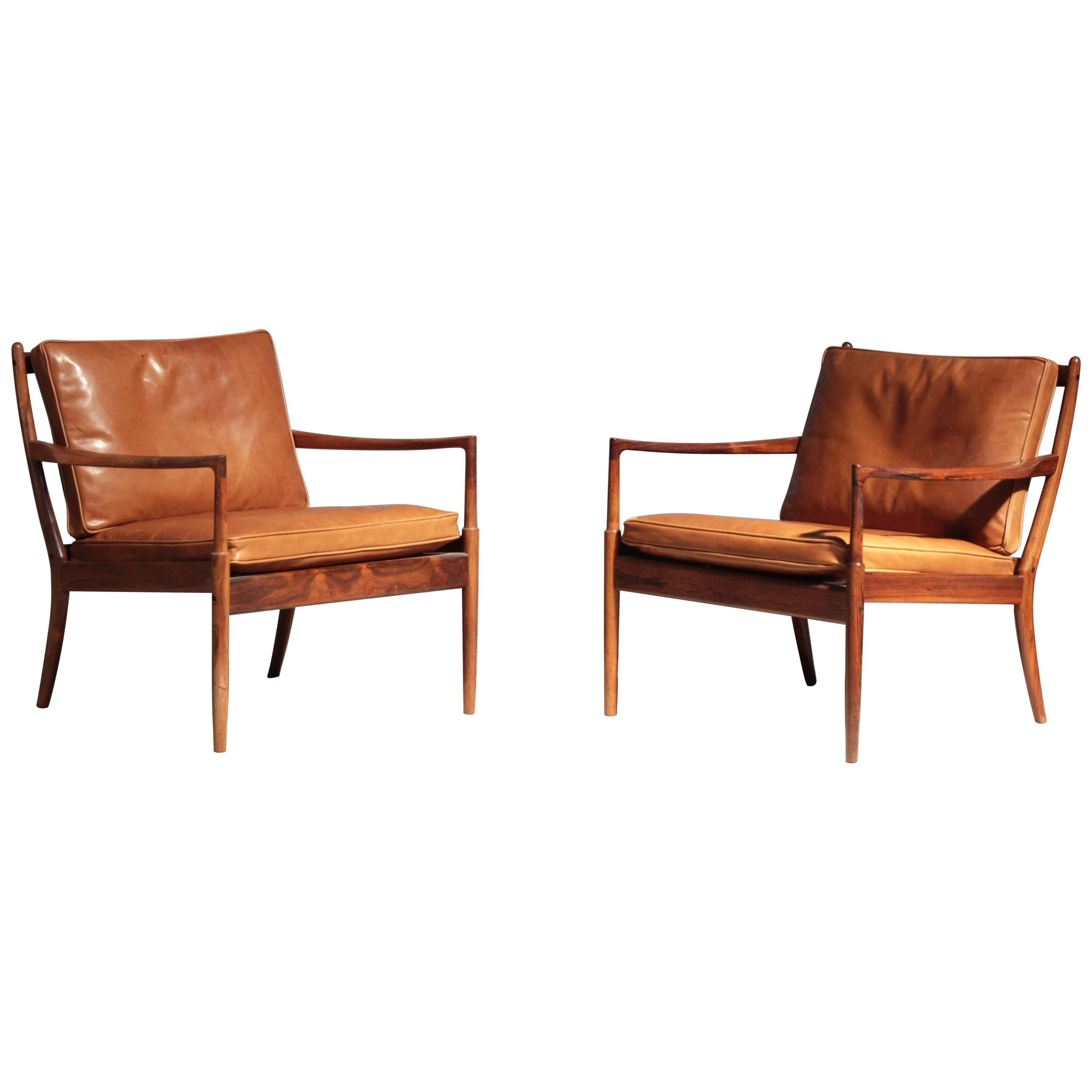 Pair of Lounge Chairs Mod. Samsö by Ib Kofod Larsen for OPE, Sweden, 1960s