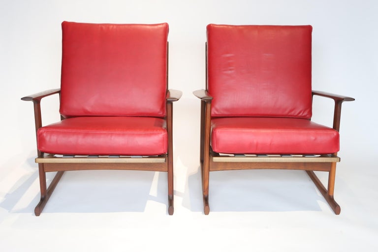 Pair of Lounge Chairs by Ib Kofod-Larsen For Sale 7