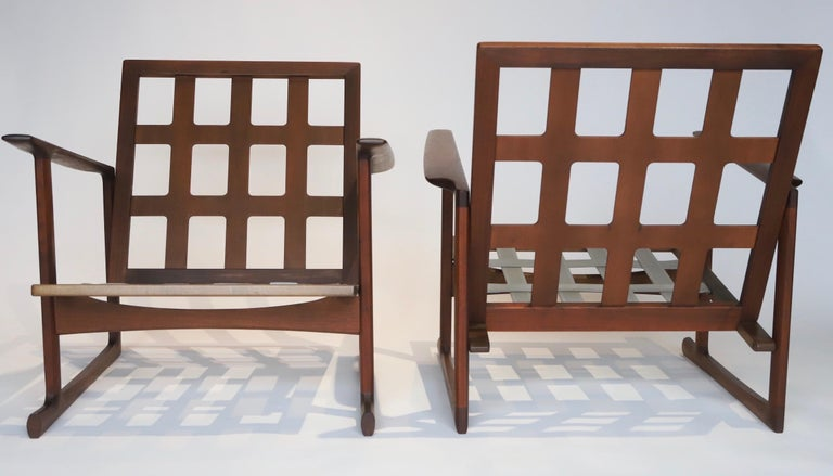 Pair of Lounge Chairs by Ib Kofod-Larsen For Sale 9