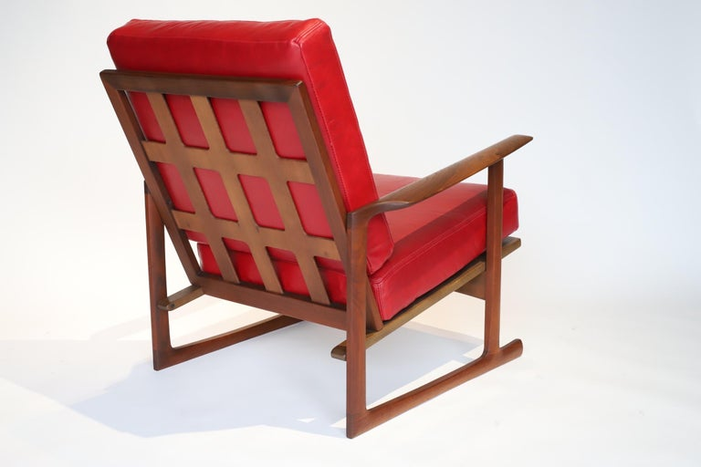 Danish Pair of Lounge Chairs by Ib Kofod-Larsen For Sale