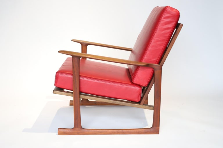 Mid-20th Century Pair of Lounge Chairs by Ib Kofod-Larsen For Sale