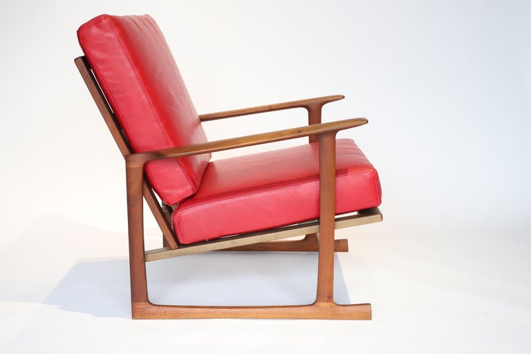 Walnut Pair of Lounge Chairs by Ib Kofod-Larsen For Sale