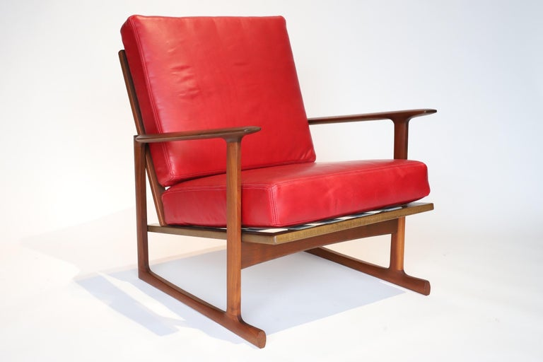 Pair of Lounge Chairs by Ib Kofod-Larsen For Sale 1