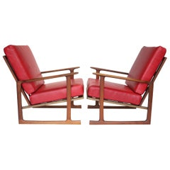 Pair of Lounge Chairs by Ib Kofod-Larsen