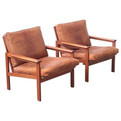 Pair of Lounge Chairs by Illum Wikkelsø for Niels Eilersen, 1960