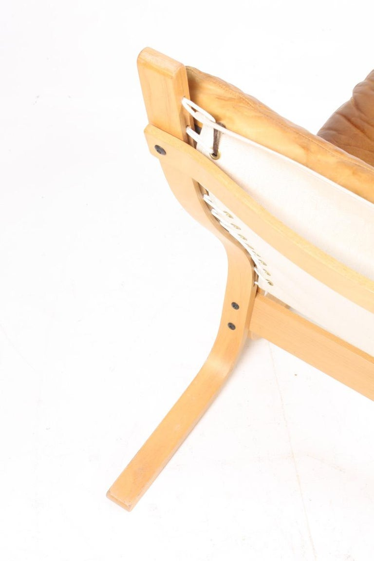 Leather Pair of Lounge Chairs by Ingmar Relling