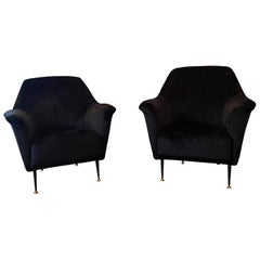 Pair of Lounge Chairs by ISA Bergamo, Italy, 1960s