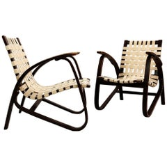 Pair of Lounge Chairs by Jan Vaněk for UP Závody, Czech, 1930s