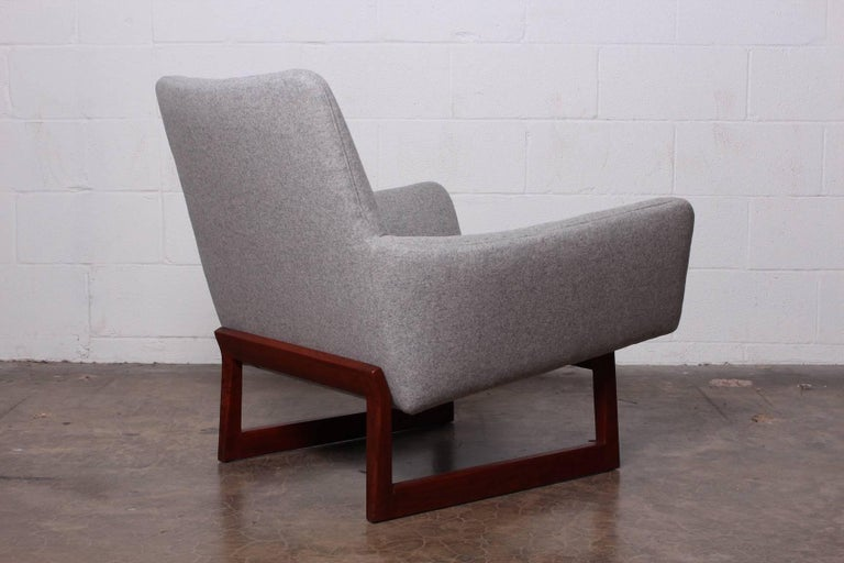 Pair of Lounge Chairs by Jens Risom For Sale 6