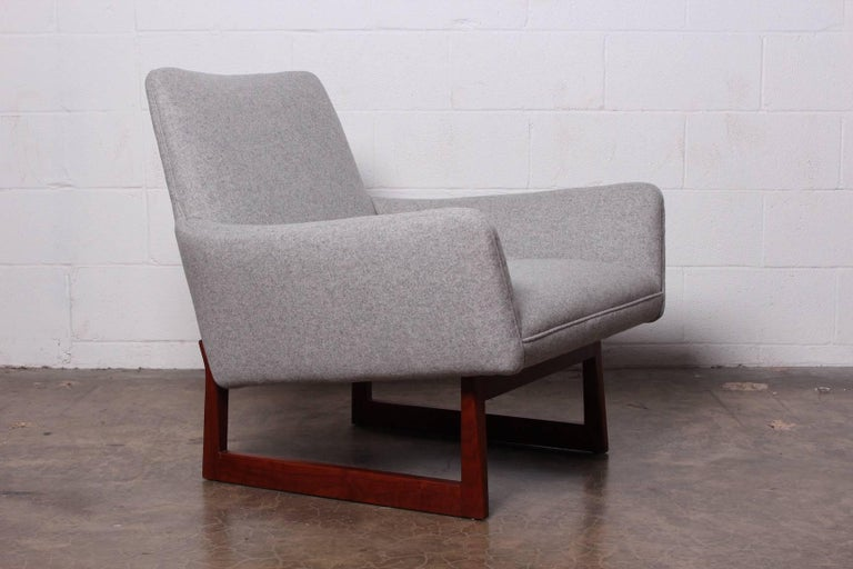 Pair of Lounge Chairs by Jens Risom For Sale 5
