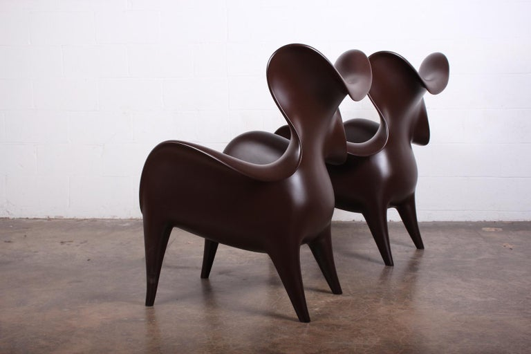 Pair of Lounge Chairs by Jordan Mozer For Sale 5