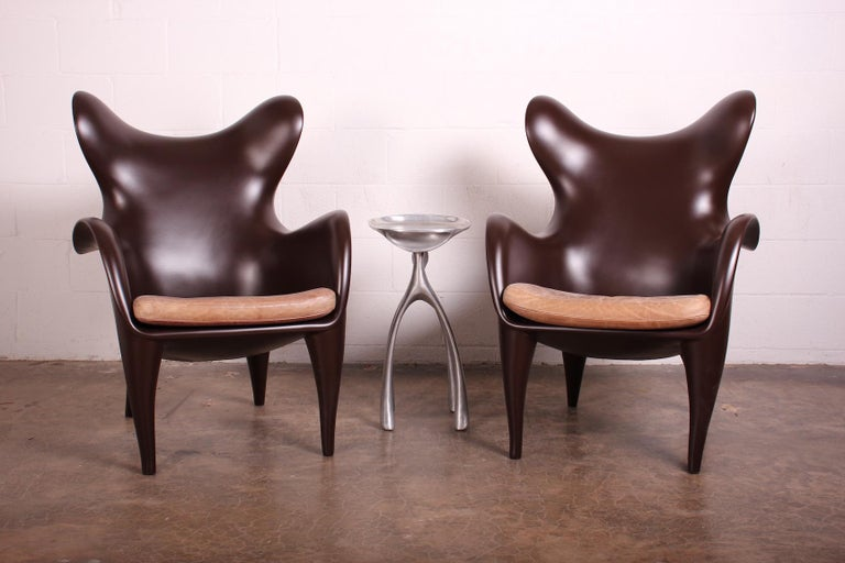 Pair of Lounge Chairs by Jordan Mozer For Sale 6