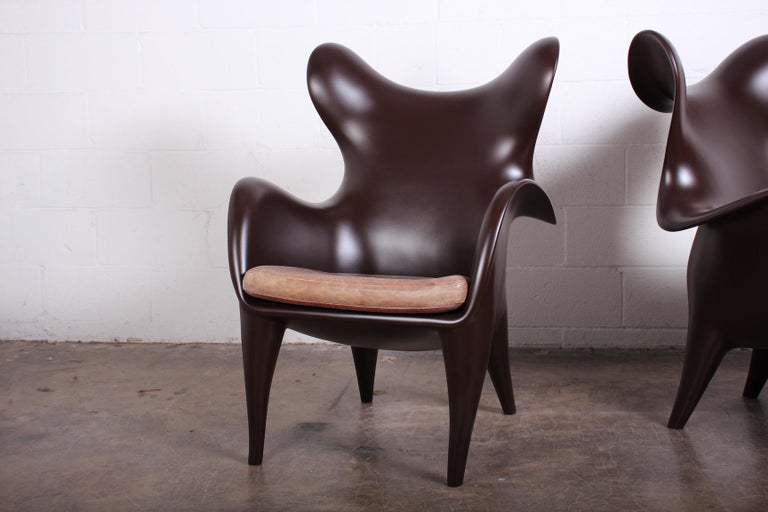 Pair of Lounge Chairs by Jordan Mozer For Sale 1