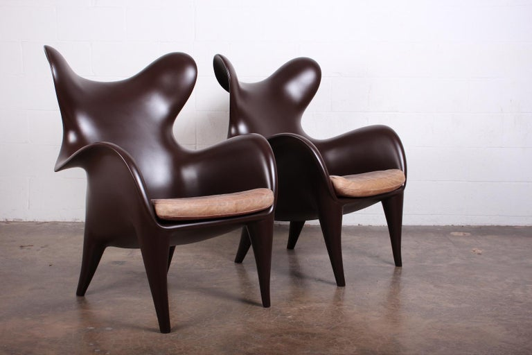 Pair of Lounge Chairs by Jordan Mozer For Sale 4