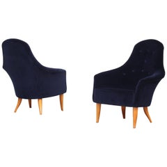 Pair of Danish Lounge Chairs by Kerstin Holmquist for Nordiska New Upholstery