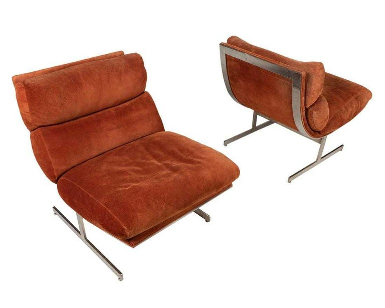 Mid-Century Modern Pair of Lounge Chairs by Kipp Stewart for Directional For Sale