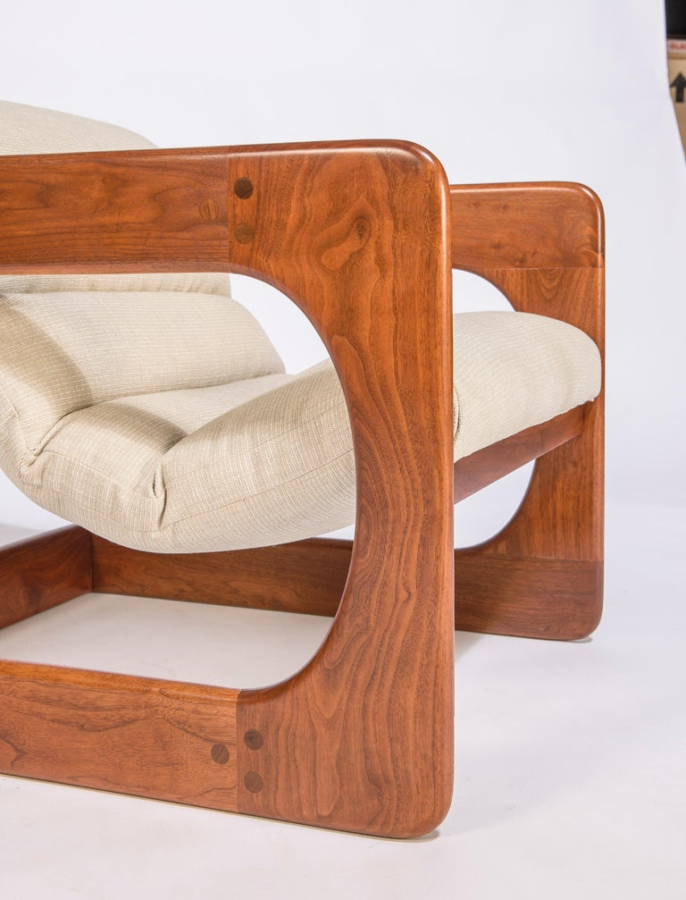 20th Century Pair of Lounge Chairs by Lou Hodges For Sale