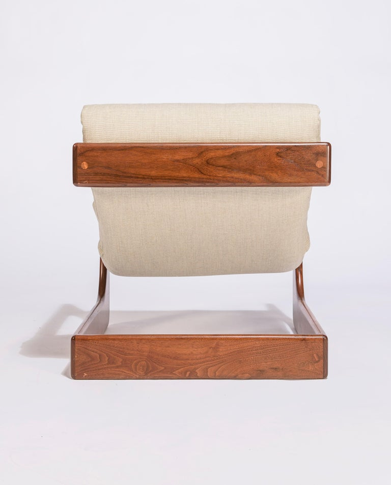 Upholstery Pair of Lounge Chairs by Lou Hodges For Sale