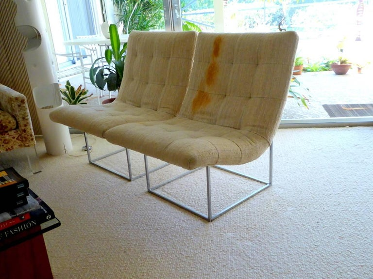 Mid-Century Modern Pair of Lounge Chairs by Milo Baughman for Thayer Coggin For Sale