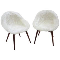Pair of Lounge Chairs by Miroslav Navratil, 1960s