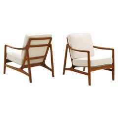 Pair of Lounge Chairs by Ole Wanscher, Danish Modern, Expertly Restored