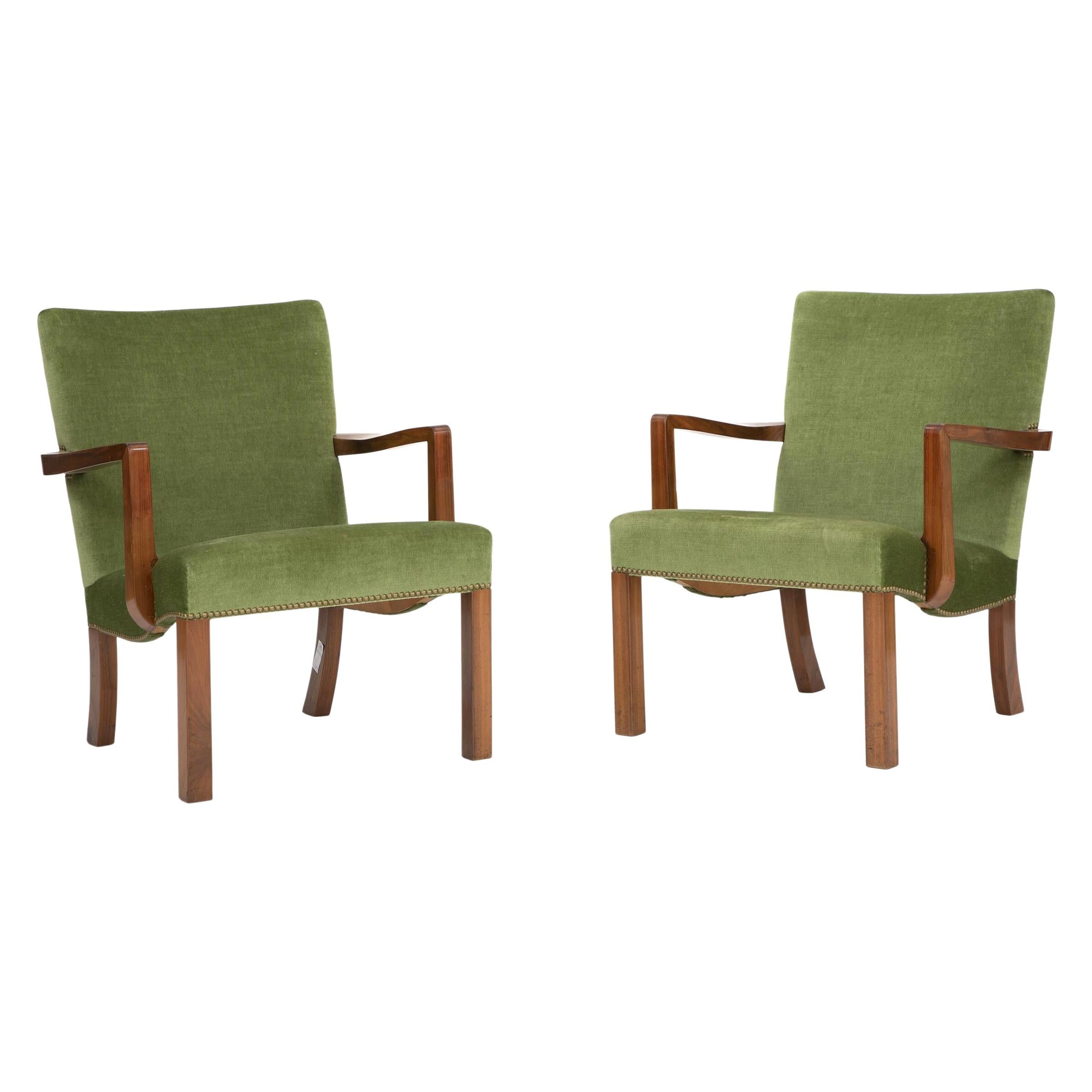Pair of Lounge Chairs by Orla Mølgard-Nielsen and Jacob Kjaer
