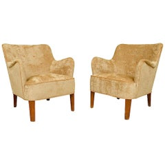 Pair of Lounge Chairs by Orla Molgaard Nielsen