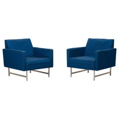 Pair of Lounge Chairs by Paul McCobb for Directional upholstery needed