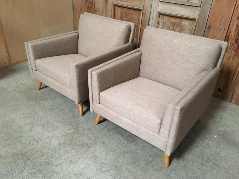 Pair of Lounge Chairs by Paul McCobb For Sale 5