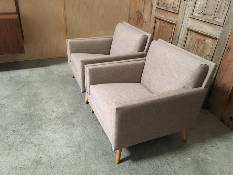 Pair of Lounge Chairs by Paul McCobb For Sale 6