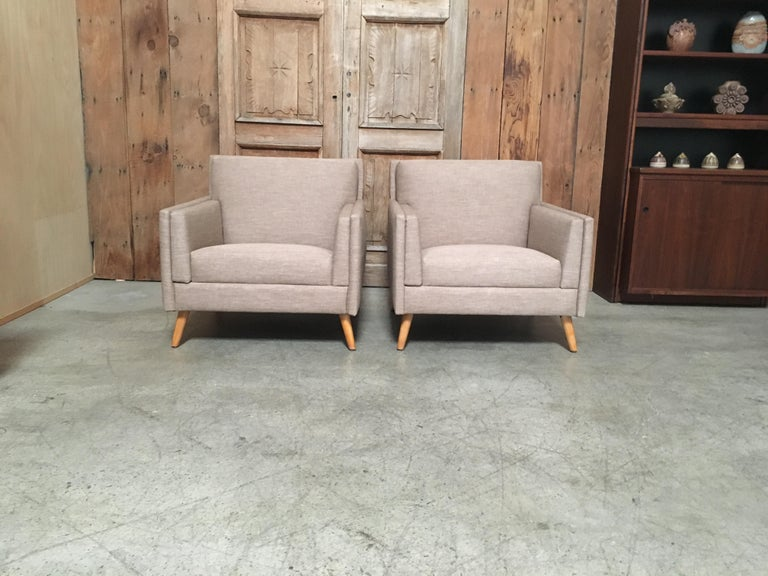 Pair of Lounge Chairs by Paul McCobb In Good Condition For Sale In Laguna Hills, CA