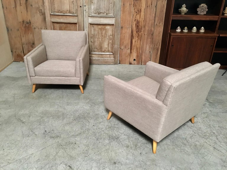 Pair of Lounge Chairs by Paul McCobb For Sale 1