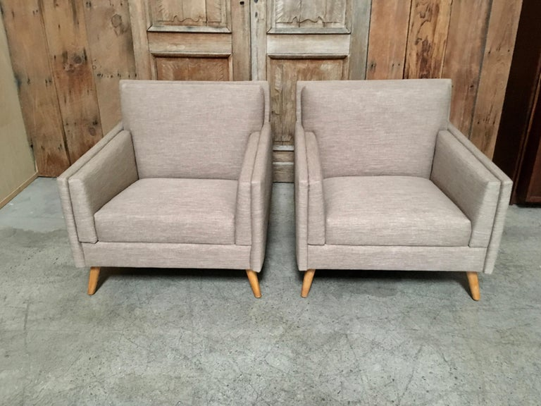 Pair of Lounge Chairs by Paul McCobb For Sale 3