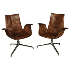 Pair of Lounge Chairs by Preben Fabricius & Jørgen Kastholm, circa 1960s