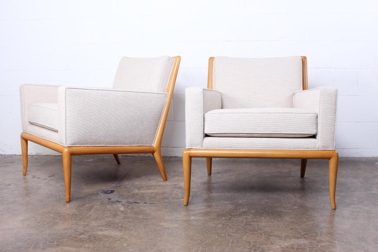 Pair of Lounge Chairs by T.H. Robsjohn-Gibbings For Sale 7