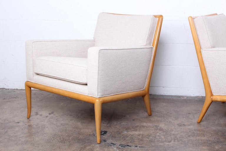 Mid-20th Century Pair of Lounge Chairs by T.H. Robsjohn-Gibbings For Sale