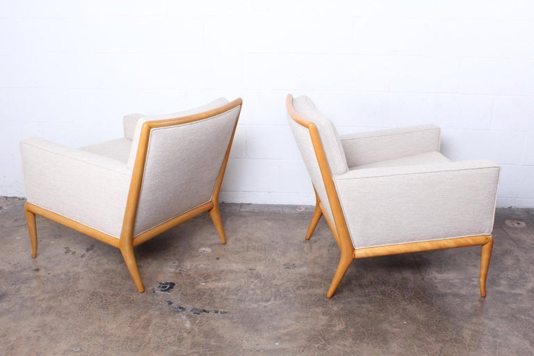 Pair of Lounge Chairs by T.H. Robsjohn-Gibbings For Sale 1
