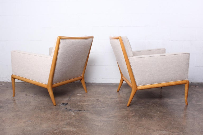 Pair of Lounge Chairs by T.H. Robsjohn-Gibbings For Sale 2