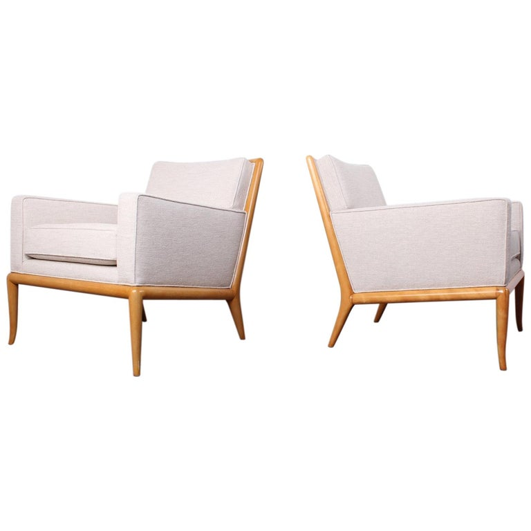 Pair of Lounge Chairs by T.H. Robsjohn-Gibbings For Sale