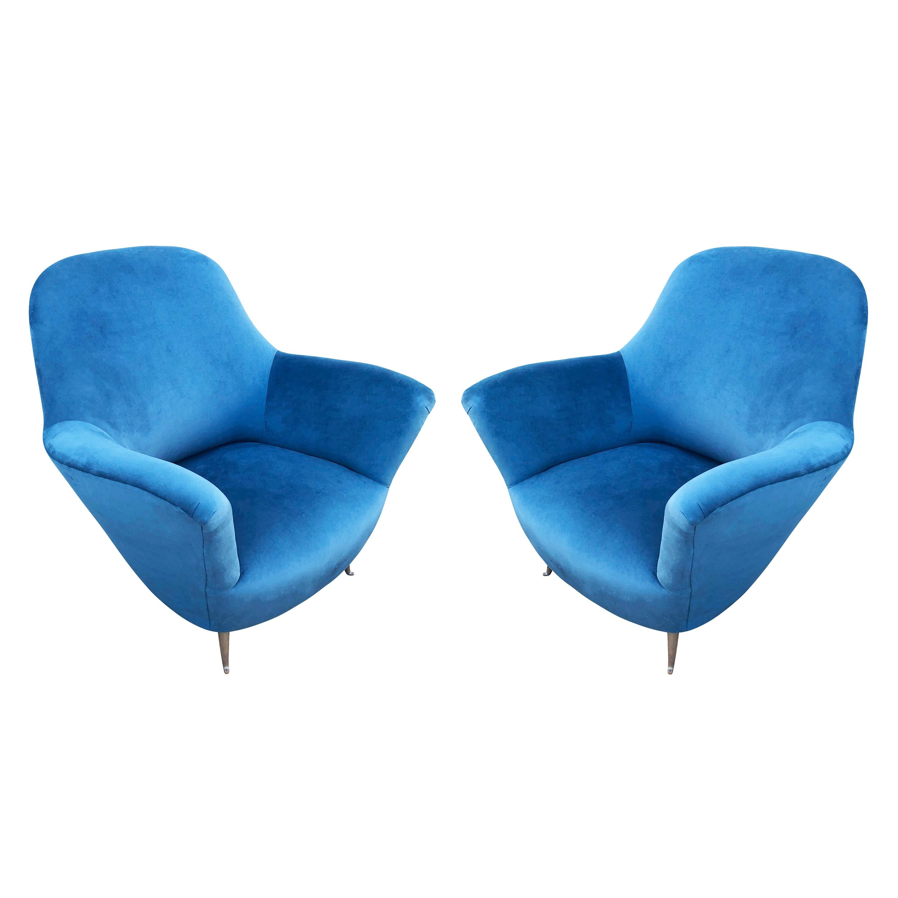 Pair of Lounge Chairs by Veronesi for ISA, Italy, 1960s