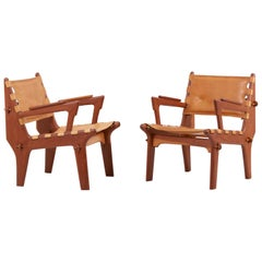 Pair of Lounge Chairs Cotacachi by Angel I. Pazmino for Muebles de Estilo