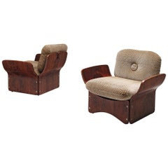 Pair of Lounge Chairs in Rosewood by Max Glendinning