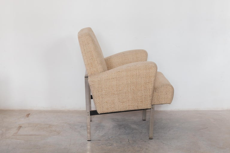 Mid-Century Modern Pair of Lounge Chairs in Style of Milo Baughman for Thayer Coggin For Sale